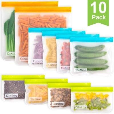 reusable locking zip storage bags