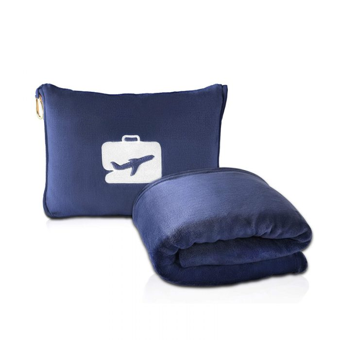 2 in 1 travel pillow blanket combo