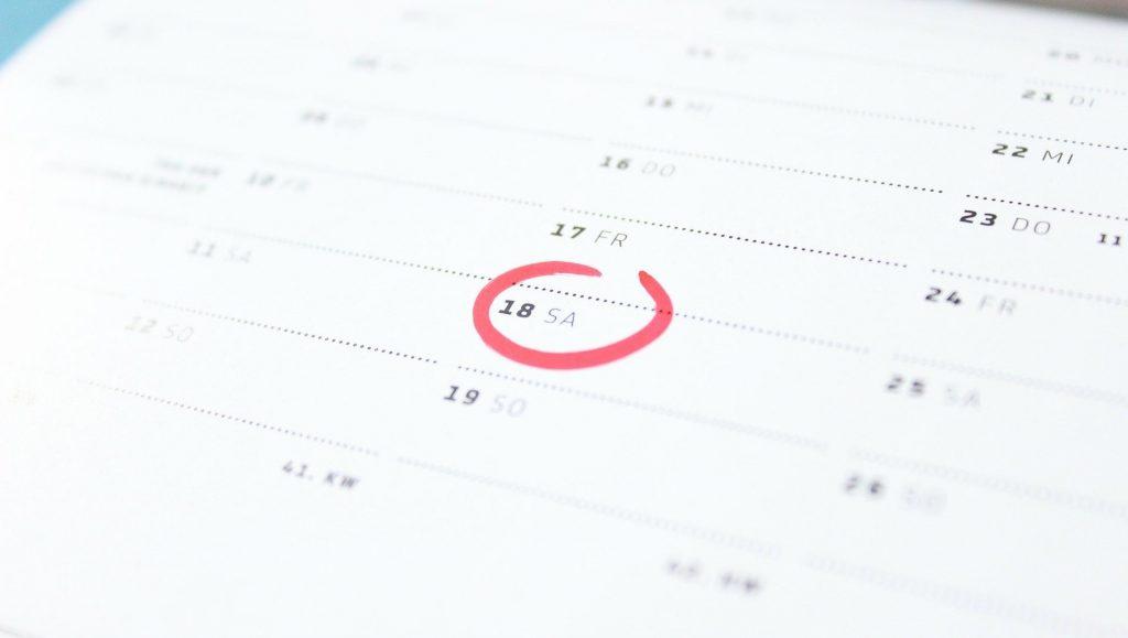 productivity calendar