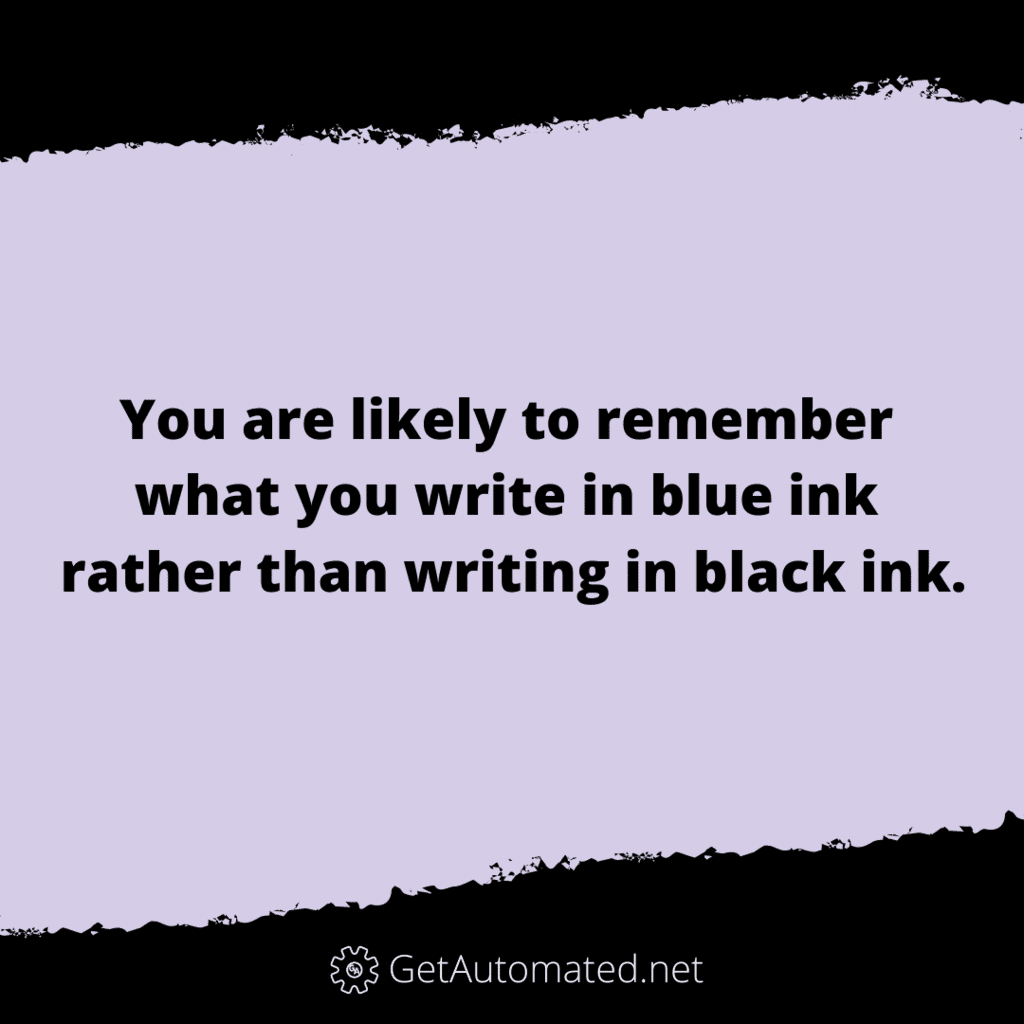 remember what you write life hack