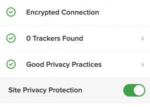 duckduckgo connection trackers practices