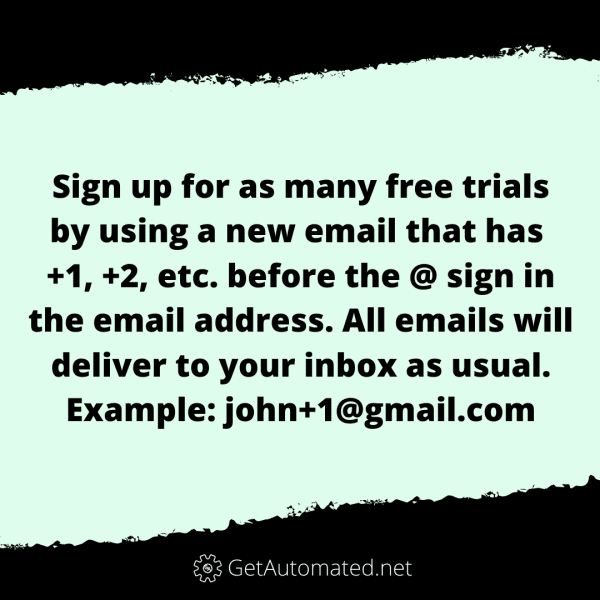 unlimited email addresses life hack