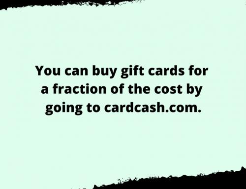 Gift Card Life Hack