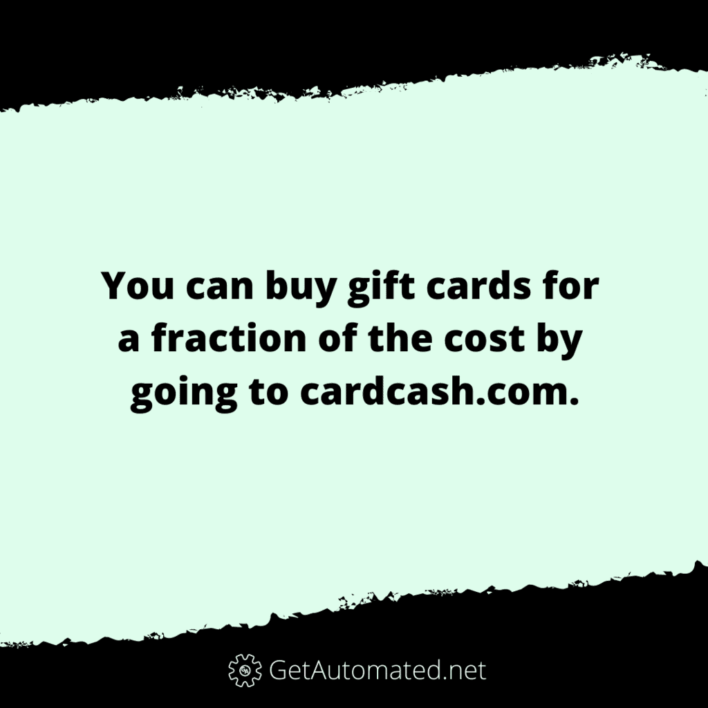 buy gift card life hack save money