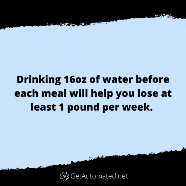 drink water before meals diet