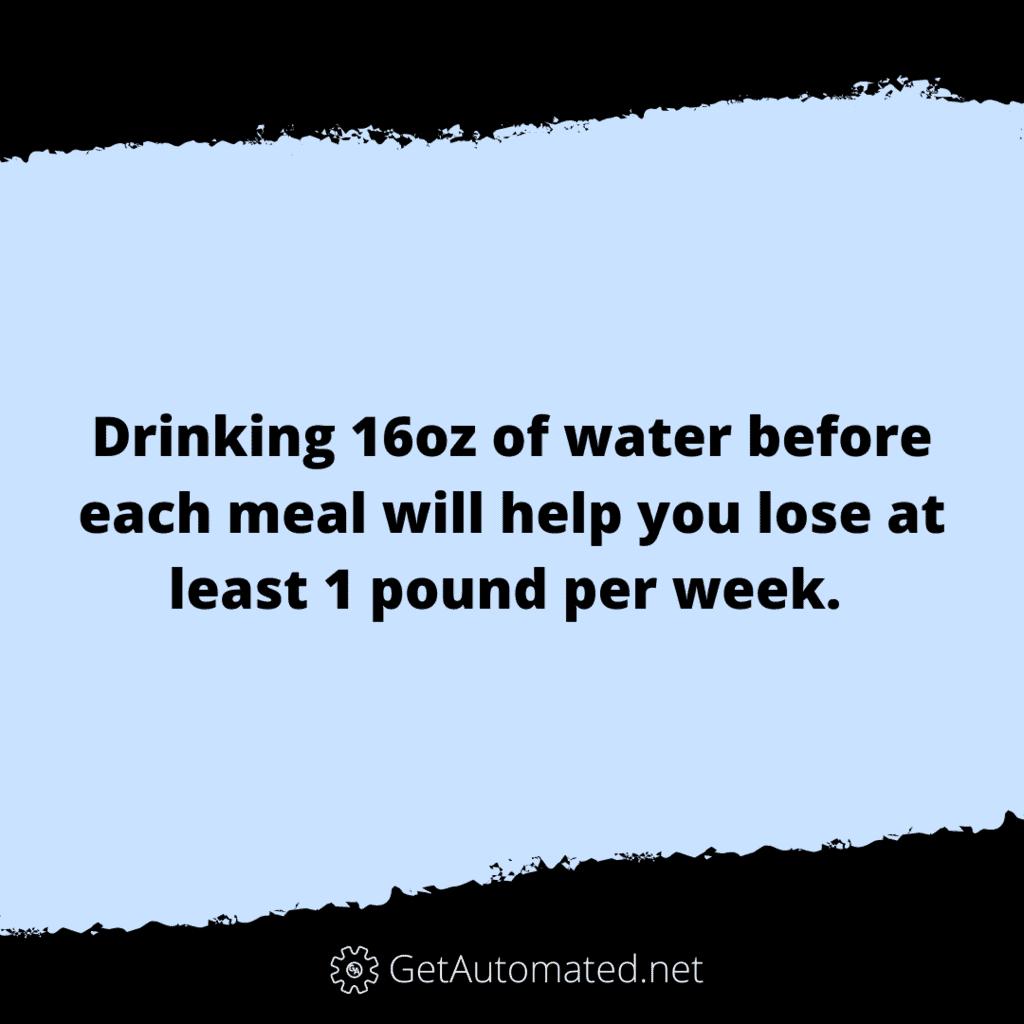 drink water before meals diet