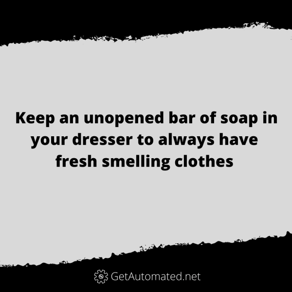fresh smelling clothes life hack