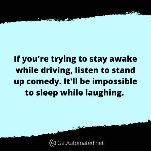 stay awake when driving hack