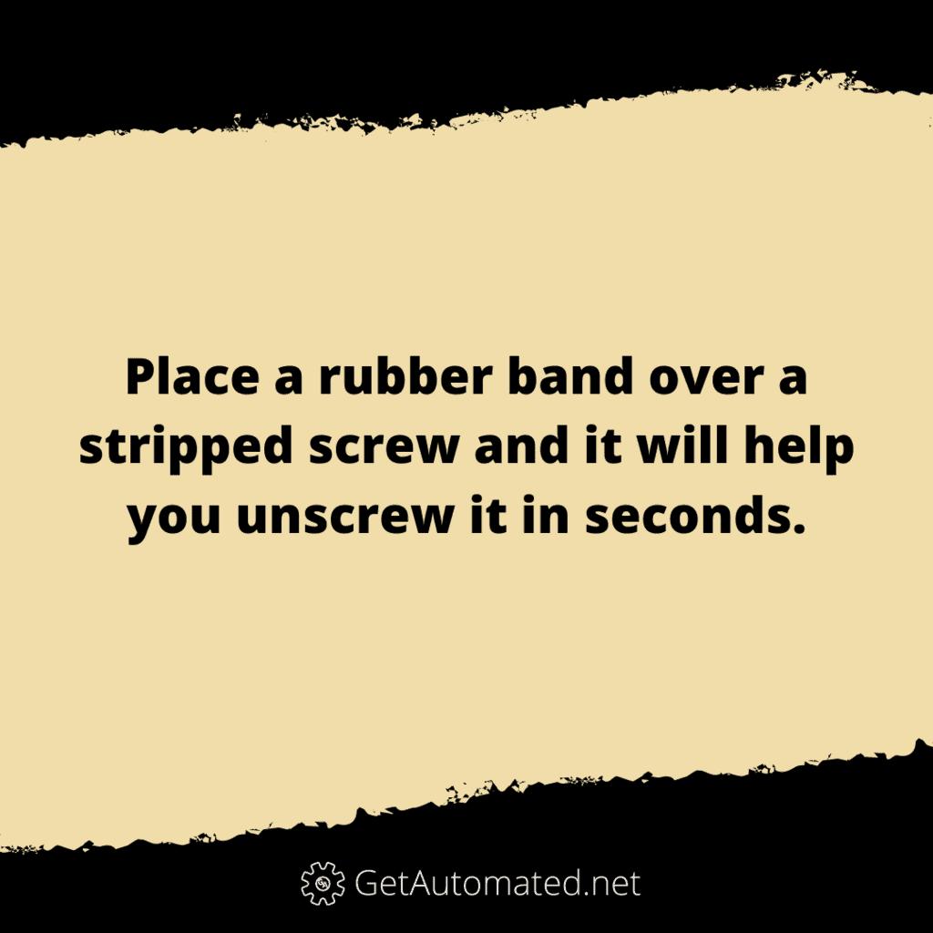 stripped screw life hack