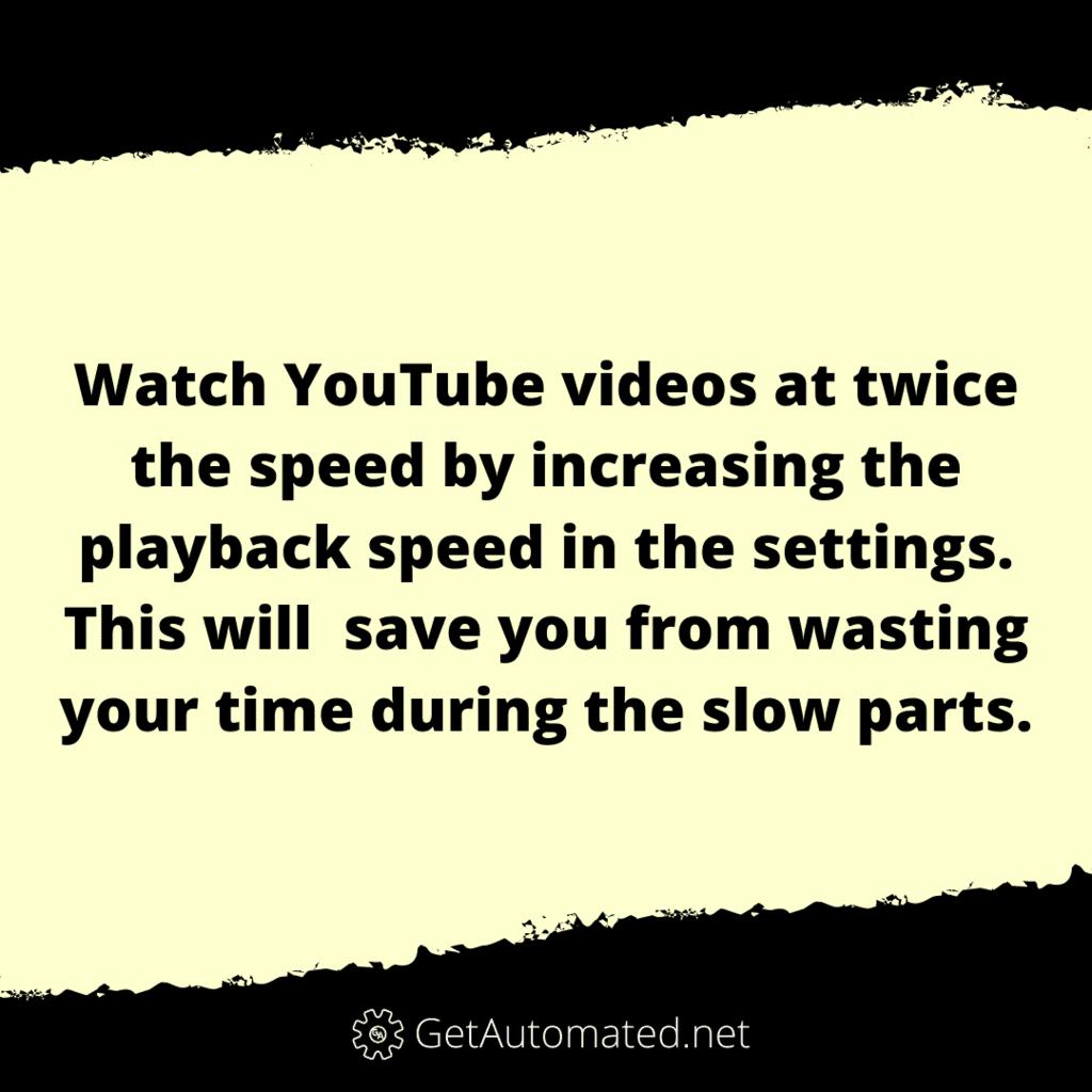 YouTube Playback Speed Life Hack