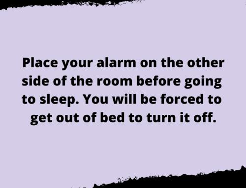 Snooze Alarm Life Hack