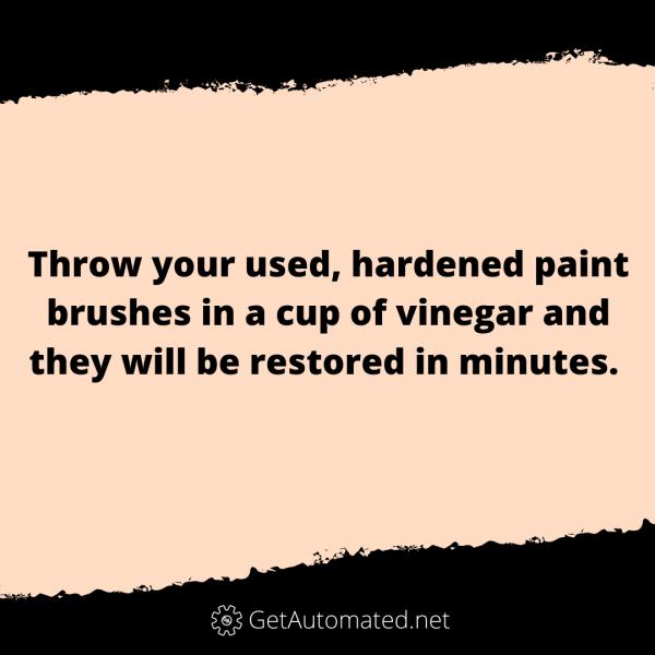 clean paint brushes vinegar life hack