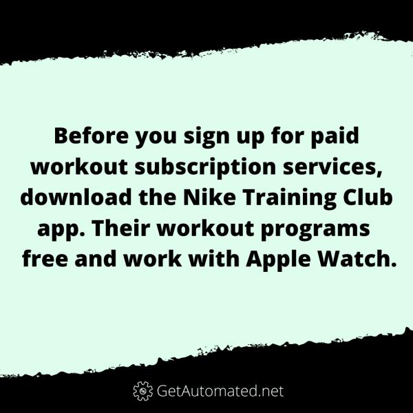 free workout app life hack nike