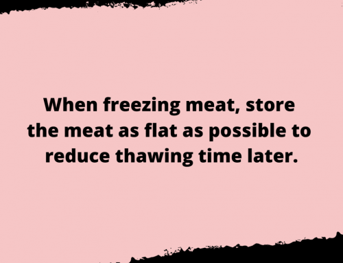Freezing Meat Life Hack