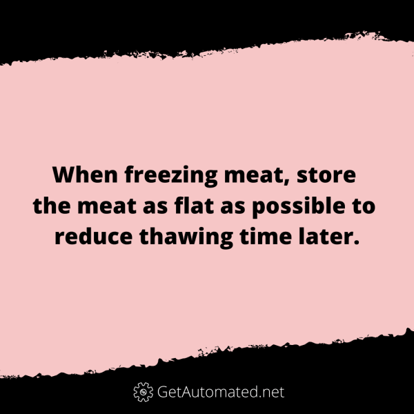 Reduce Thawing Time Freezing Meat Life Hack