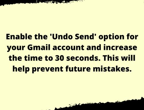 Undo Send Life Hack