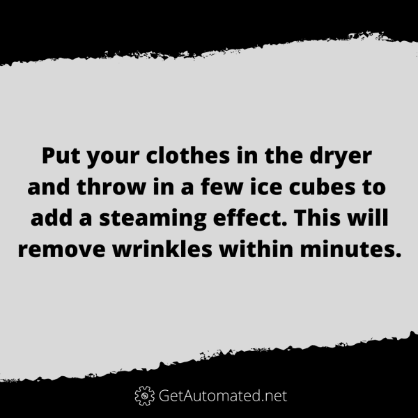 remove wrinkles ice cube dryer life hack
