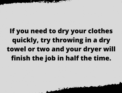 Dry Clothes Faster Life Hack