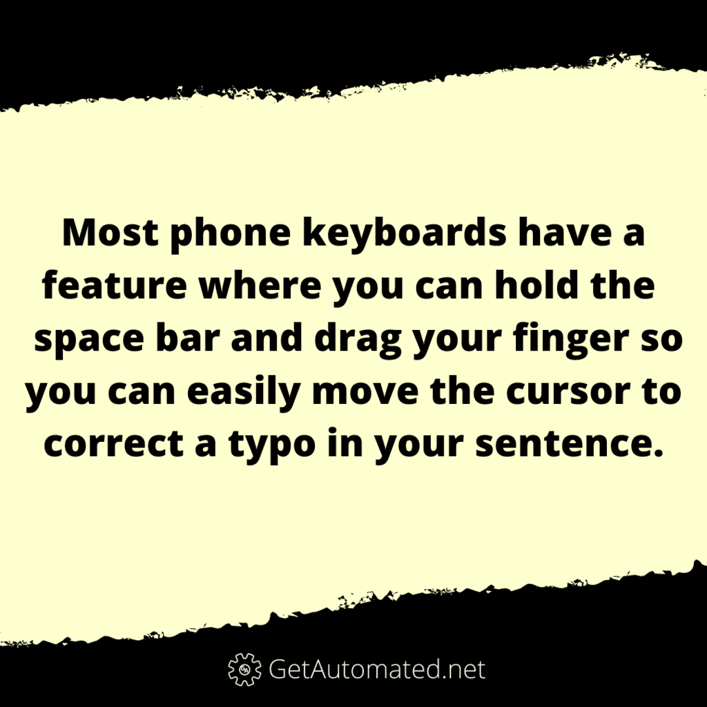 phone cursor space bar life hack