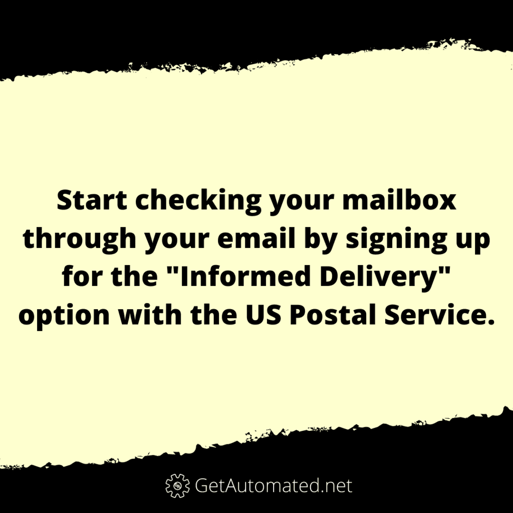 usps mailbox service email life hack