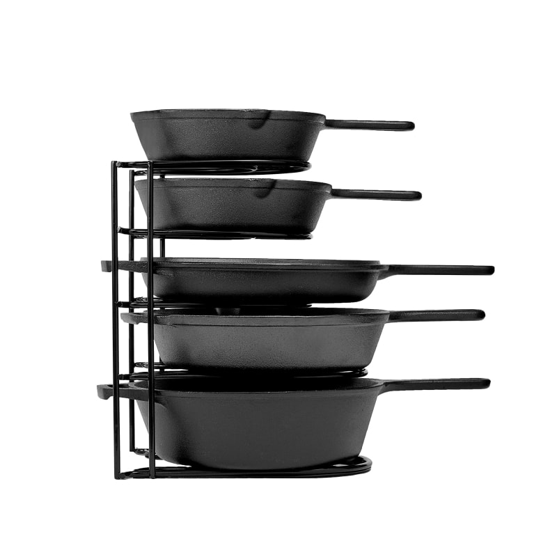 pot and pan organizer for cabinet