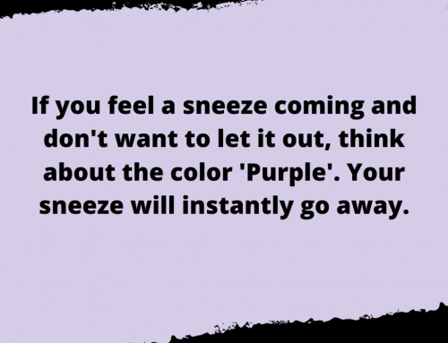 Prevent Sneeze Life Hack
