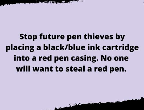 Pen Theft Life Hack