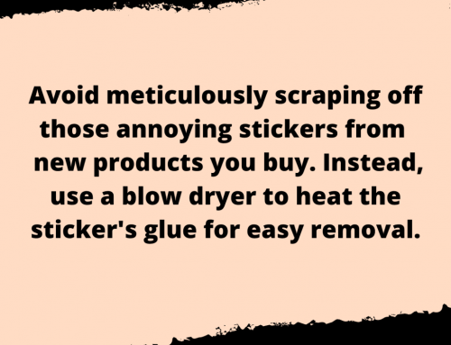 Remove Stickers Life Hack