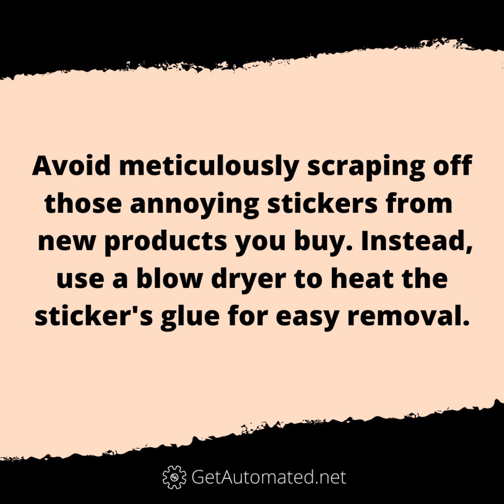 remove stickers easily life hack