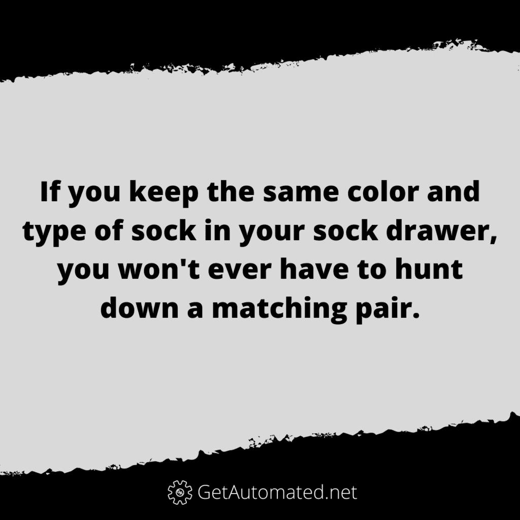 always have matching socks life hack