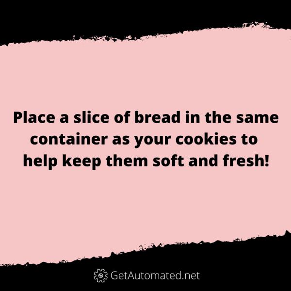 keep cookies soft bread life hack