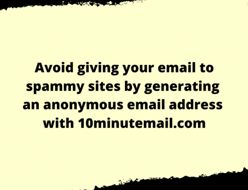Temporary Email Life Hack