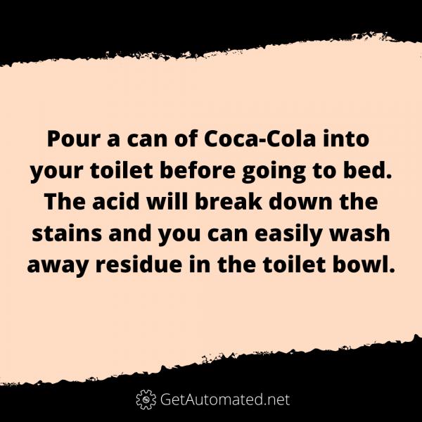 toilet bowl clean with coca cola life hack