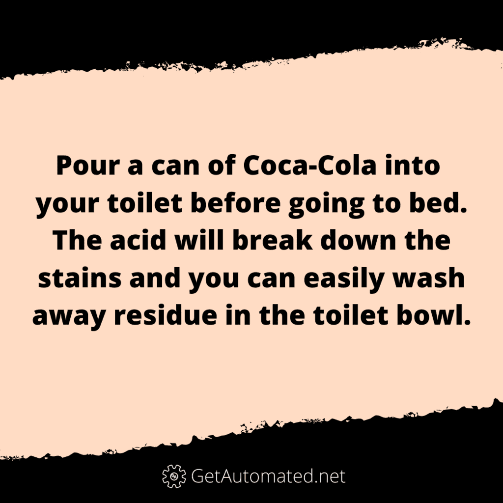 toilet bowl clean with coca cola life hack