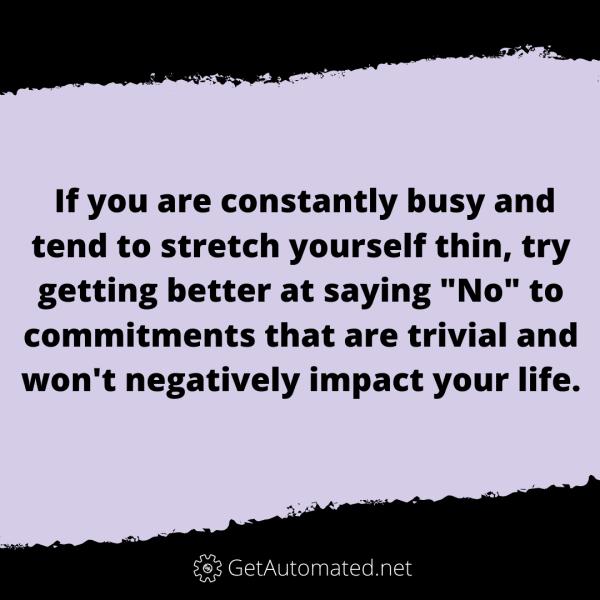 Get better At Saying no