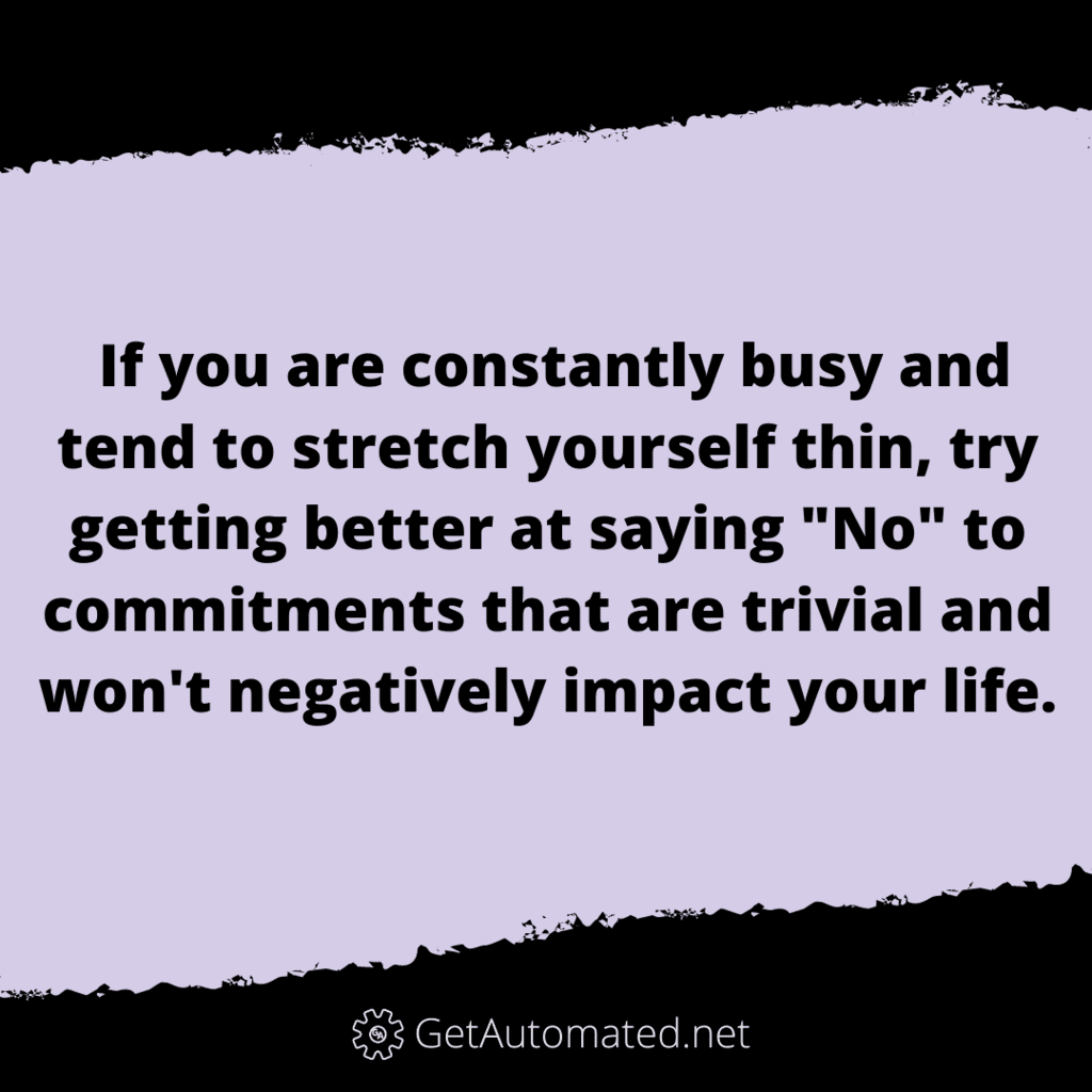 Get better At Saying no