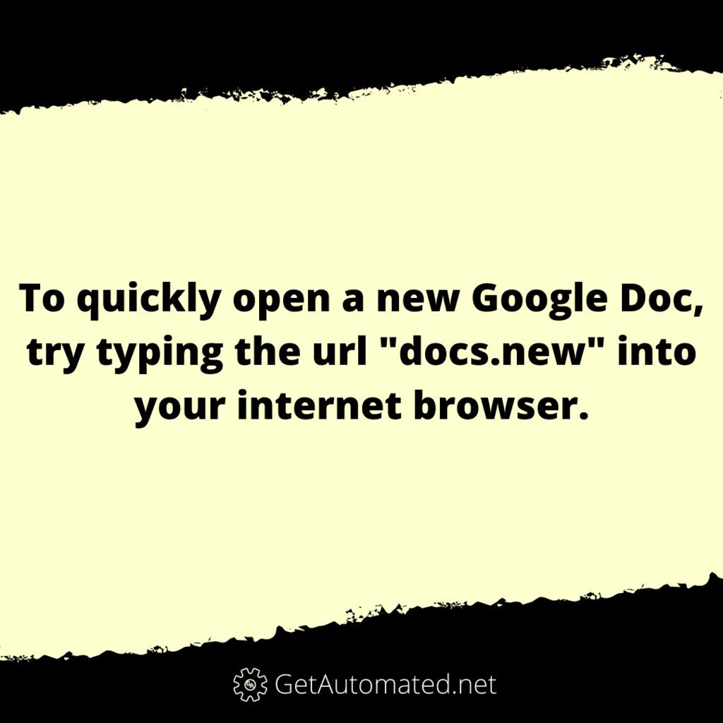 google doc life hack