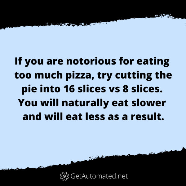 pizza life hack eat less pizza