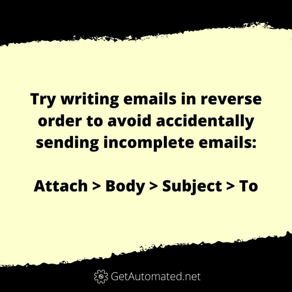 dont send incomplete emails