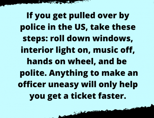 Speeding Ticket Life Hack