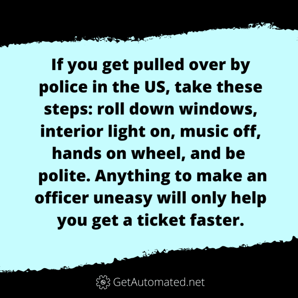 avoid speeding ticket life hack