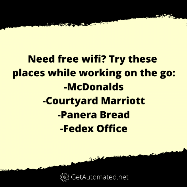 Free Wifi Life Hack Businesses