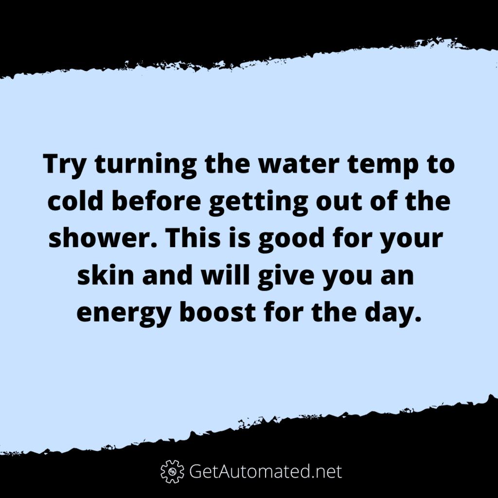 cold shower life hack benefits