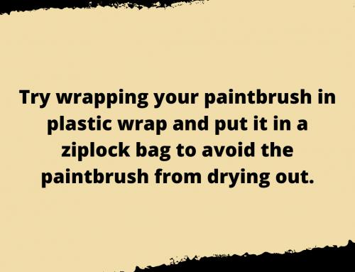 Dried Paintbrush Life Hack