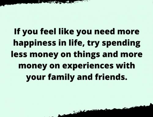 Spending Money Life Hack