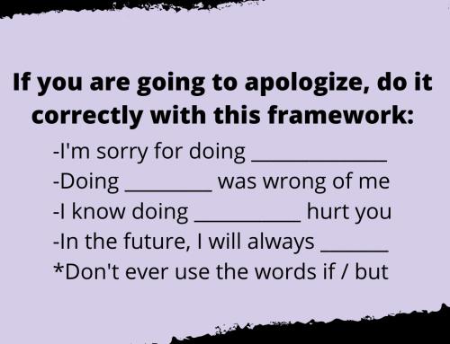 Apologizing Life Hack
