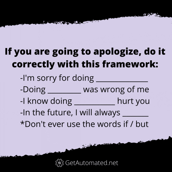 how to apologize correctly life hack